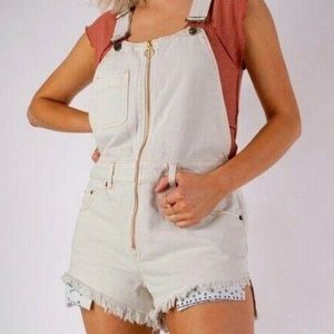 FREE PEOPLE WE THE FREE Shortalls Overall Shorts